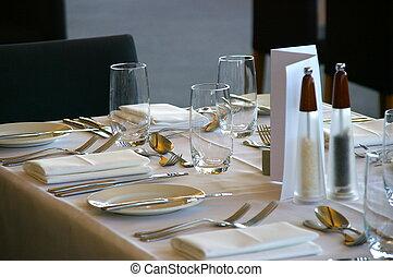 Restaurant Table Setting #1
