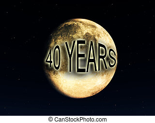 40 Years Since The Moon Landing - Image celebrating 40 years...