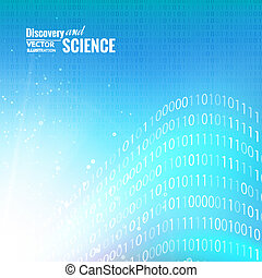 Binary code. - Binary code abstract for science background....