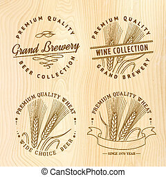Beer logo set for your design Vector illustration
