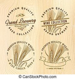 Beer logo set for your design. Vector illustration.