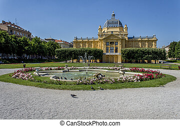 ZAGREB, CROATIA - JUNE 07, 2014: The Art Pavilion in Zagreb...