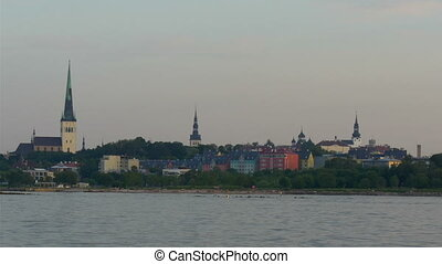 The old Tallin view of Estonia from the sea scape view The...
