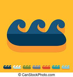 Flat design: wave