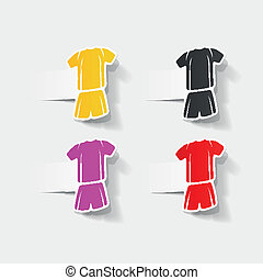 realistic design element: Football clothing