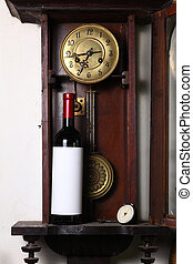 Time for red wine - Bottle of red wine with blank label...
