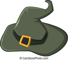 The witches hat Illustration in vector format