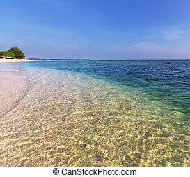 Beach on Gili - Tropical beach in Gili