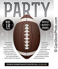 American Football Party Flyer - An American Football flyer...