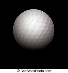 Realistic Golf Ball Illustration