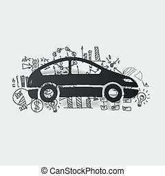 Drawing business formulas: car