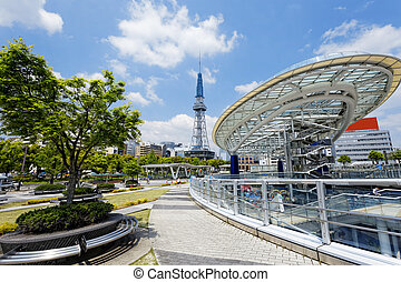 Nagoya landmark - Nagoya, Japan city skyline with Nagoya...