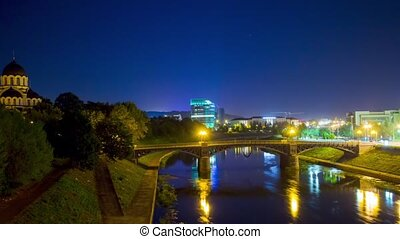 Vilnius, Lithuania in the night