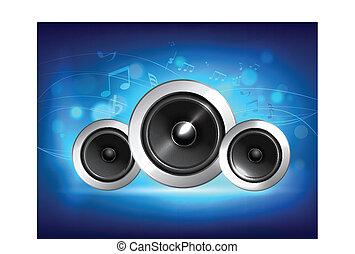 Audio speaker music concept - Audio speakers subwoofer...