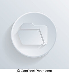 circle icon with a shadow. folder for documents