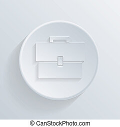 paper circle flat icon with a shadow, briefcase