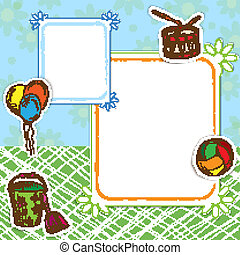 Toys frame street - Toys postcard frame template street with...