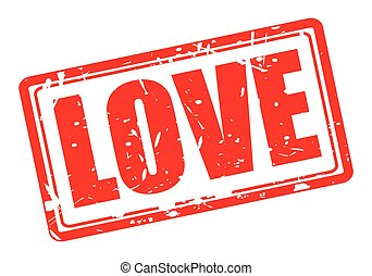 Love red stamp text