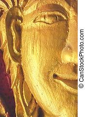 Gold Face Buddha