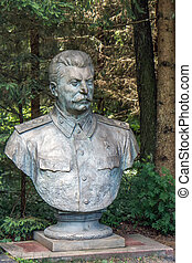 Stalin bust in bronze - Stalin monuments, like paintings and...