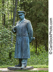 Stalin monument in forest - Stalin monuments, like paintings...