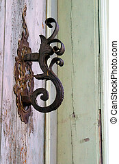 Doorhandle of house in Tallinn - Doorhandle of house in the...