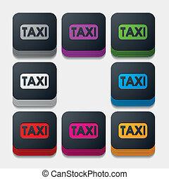 square button: taxi