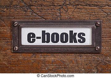 e-books - file cabinet label - e-books - file cabinet label,...