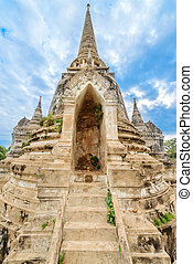 Ruins of acient stupa at Buddhist temple - Ruins of ancient...
