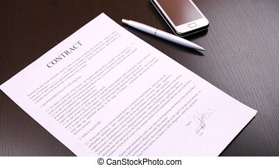Termination of a contract - Businessman tearing contract
