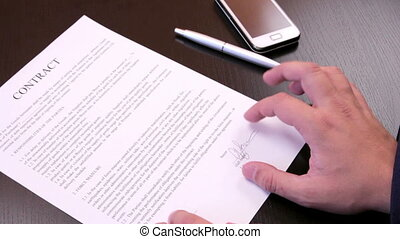 Termination of a contract - Businessman crushes contract