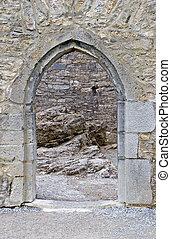 Castle doorway - A doorway into Ross Castle in Killarney...