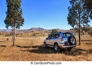 4x4 travel - Traveling off road with a big 4x4 car in...