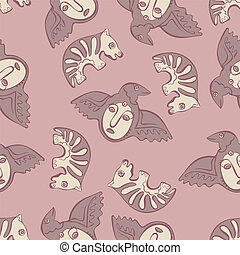 vector seamless Perm animal - vector seamless pattern...