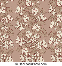 vector seamless Perm animal 3 - vector seamless pattern...