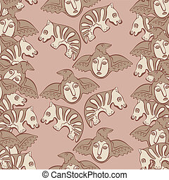 vector seamless Perm animal 4 - vector seamless pattern...