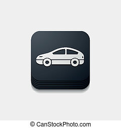 square button: car