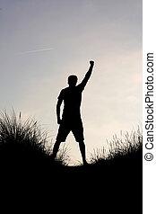 Success - A man enjoying success