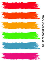 Paint Brush Strokes in Assorted Pastel Colors