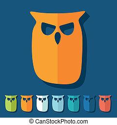 Flat design: owl