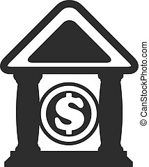 Vector Bank Black Icon