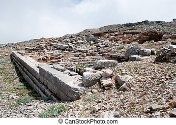 ruins of the ancient temple of Zeus.
