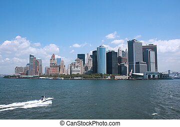Downtown Manhattan - NYC seen from the Staten Island ferry