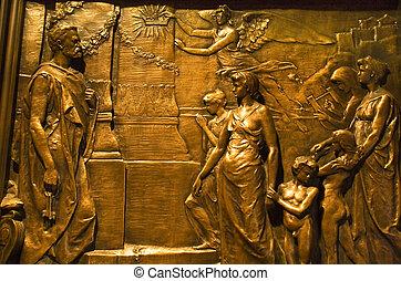 Bronze Door Trinity Church New York City - Bronze Door...