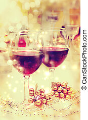 Holiday Wine Table Setting