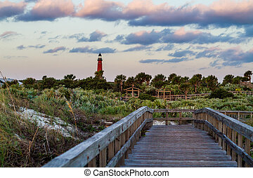 Ponce de Leon Lighthouse - Boardwalk leading past the Ponce...