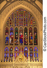 Trinity Church New York City Inside Stained Glass Arches...