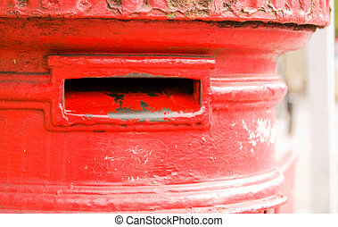 iconic red letter box.