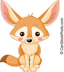 Fennec - Illustration of cute Fox Fennec