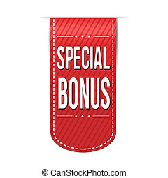 Special bonus banner design over a white background, vector...